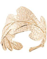 Karen Walker Oak Leaf Ring - Metallic