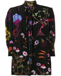 Stella McCartney フローラル ドレス - ブラック