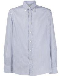 Brunello Cucinelli - Полосатая Рубашка С Длинными Рукавами - Lyst
