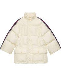Gucci Web-panelled Padded Jacket - Natural