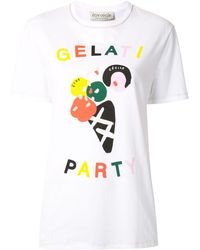 Être Cécile 'Gelati Party' T-Shirt - Weiß