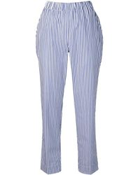 P.A.R.O.S.H. Pantalones a rayas - Azul