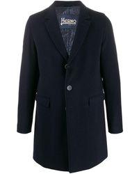 Herno Mittellanger Mantel - Blau