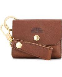 AS2OV Small Keyring Wallet - Brown