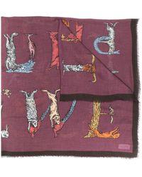 Loewe Animalia スカーフ - マルチカラー