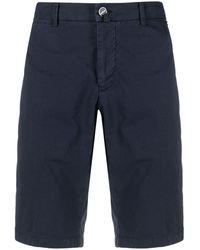 Kiton Knee-length Chino Shorts - Blue