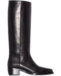 LEGRES Leather Riding Boots - Black