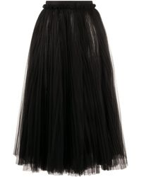 Dolce & Gabbana Rok Van Tule - Zwart