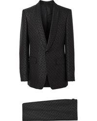 Burberry - English Fit Monogram Wool Blend Jacquard Tuxedo - Lyst