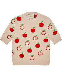 Gucci - GG アップル ジャカード セーター - Lyst