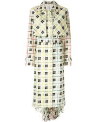 Silvia Tcherassi Birdie Check Print Trench Coat - Multicolor