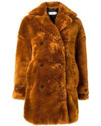 Closed - Faux Fur Coat - Lyst
