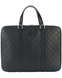 Gucci - Signature Laptop Bag - Lyst