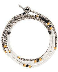 M. Cohen Bracelet Disc orné de perles - Métallisé