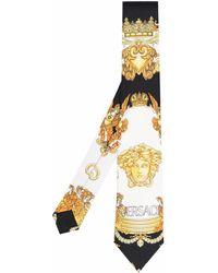 Versace Галстук С Принтом Medusa - Черный