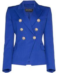 Balmain Wollen Blazer - Blauw