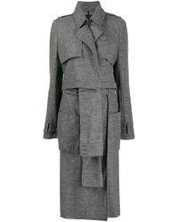 RTA Panelled Single Breasted Coat - Grey