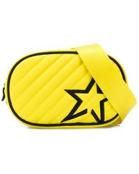 Perfect Moment Star Patch Quilted Belt Bag - Yellow