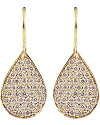 Irene Neuwirth Diamond pear shaped drop earrings - Metallizzato