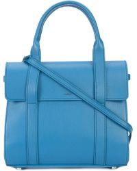 Shinola Bolso tote estilo satchel - Azul