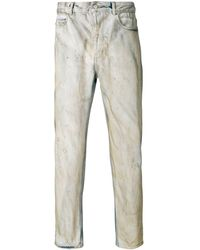 Golden Goose Deluxe Brand Distressed slim-fit jeans - Bleu
