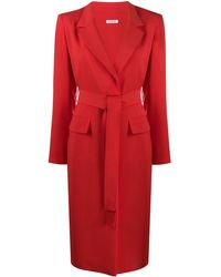 P.A.R.O.S.H. Belted Trench Coat - Red