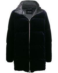 Giorgio Armani フーデッド パデッドコート - ブラック