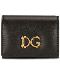 Dolce & Gabbana ロゴプレート クラッチバッグ - ブラック