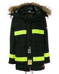 R13 - Colour-block Parka Coat - Lyst