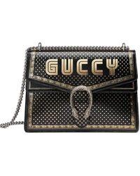 Gucci Borsa Dionysus Sega® Print Shoulder Bag - Black