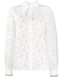 N°21 - Рубашка Из Цветочного Кружева - Lyst