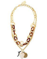 Lizzie Fortunato Elba Necklace - Metallic
