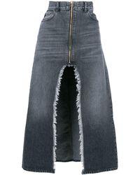 Marcelo Burlon Denim long skirt - Noir