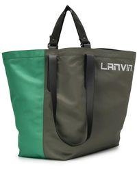 Lanvin Сумка-тоут С Логотипом - Зеленый