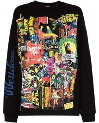we11done Movie Collage Sweatshirt - Black