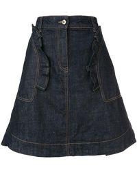 Carven - Ruffle Trim Skirt - Lyst
