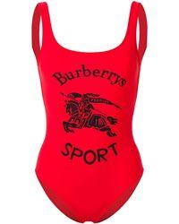 Burberry Badpak Met Logo - Rood