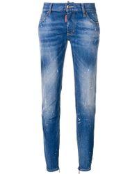 DSquared² - Medium Waist Twiggy Jeans - Lyst