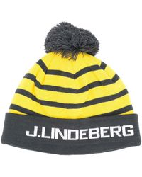 J.Lindeberg Logo Knitted Beanie - Gray