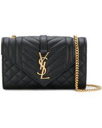 f870463874cb Saint Laurent Duffle 6 Suede  Leather Top Handle Bag in Black - Lyst