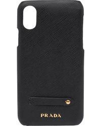 Prada Iphone X/xs Hoesje Met Print - Zwart