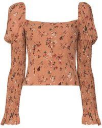 Reformation Augustine Floral Blouse - Pink