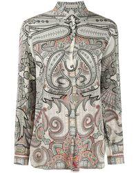 Etro Paisley-print Silk Shirt - White