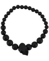 Alexander McQueen - Skull Multi-beaded Bracelet - Lyst