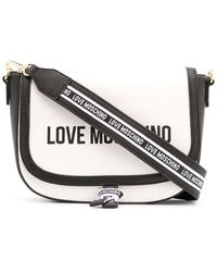 Love Moschino Сумка-сэтчел В Стиле Колор-блок С Логотипом - Белый