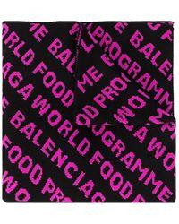 Balenciaga ロゴ スカーフ - マルチカラー