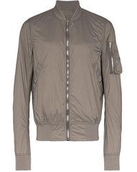 Rick Owens Drkshdw Flight Zipped Bomber Jacket - Серый