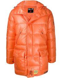 R13 オーバーサイズ パデッドコート - オレンジ