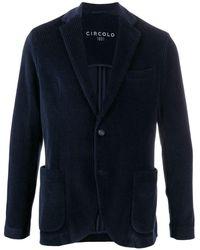 Circolo 1901 コーデュロイ シングルジャケット - ブルー