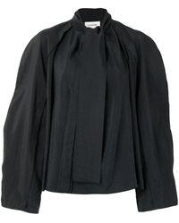 Lemaire Pussybow Boxy Shirt - Black